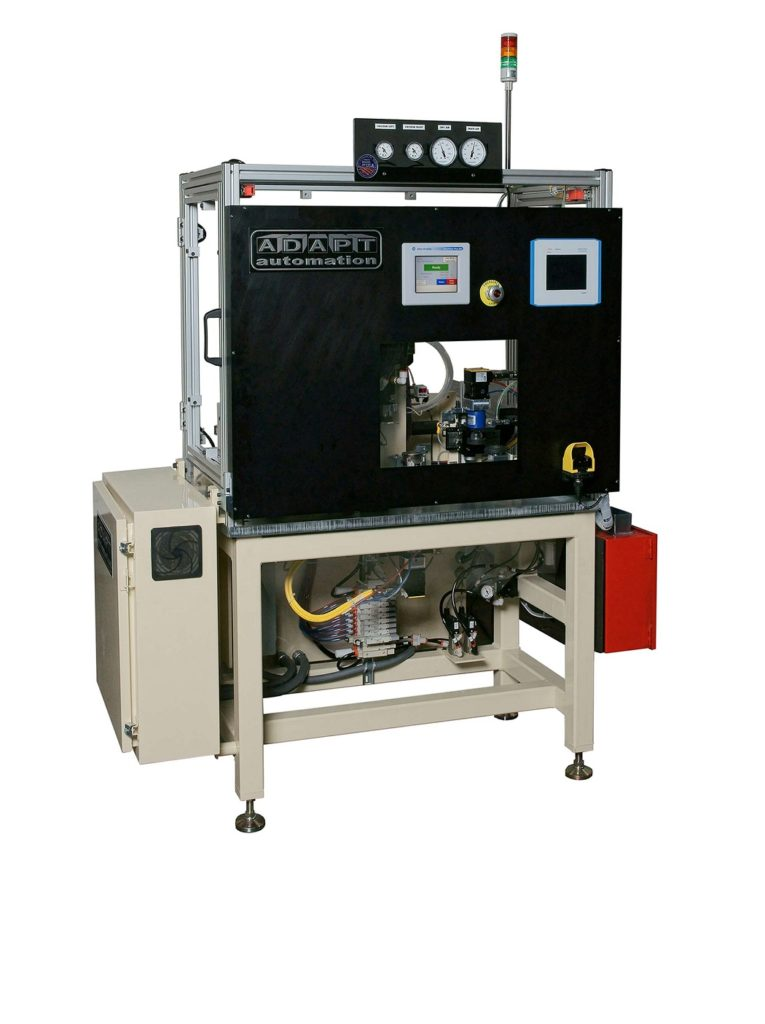 Automotive Inflator ID Tape Applicator Machine adapt automation