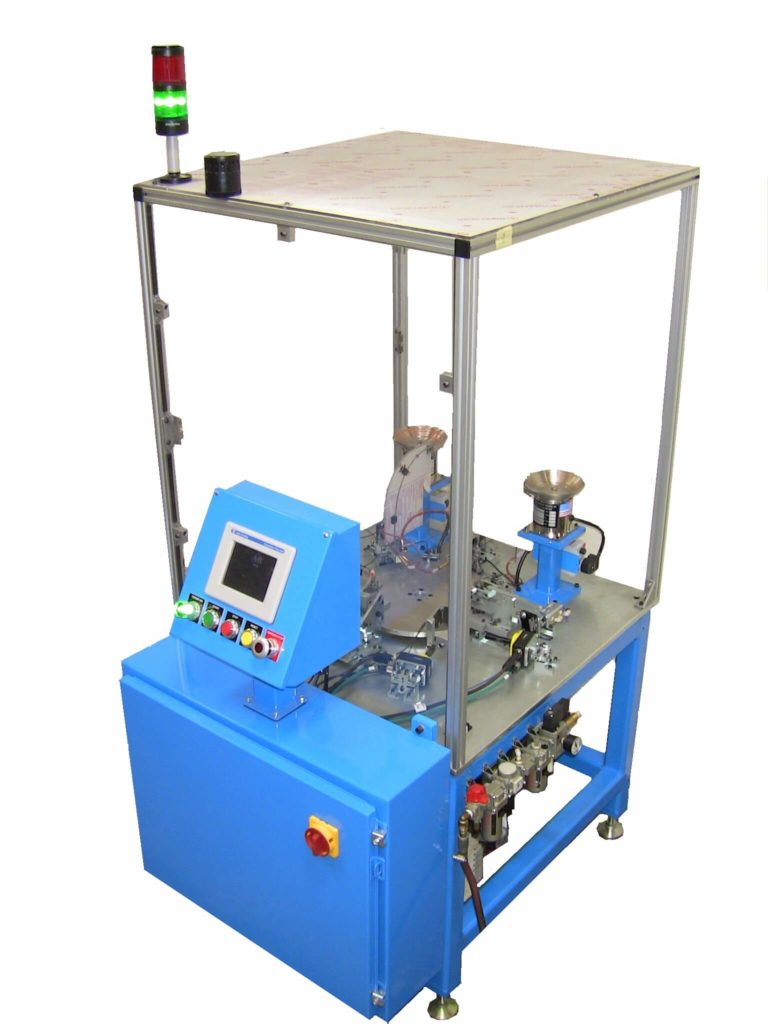 contact high speed assemble crimp and bulge machine adapt automation